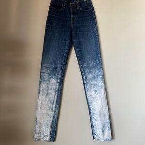 VANS painted navy white jeans skinny